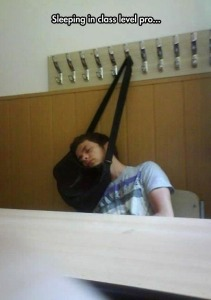 A-problem-solver-student-sleeping-head-on-a-hanging-bag-funny-picture